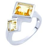 Серебряное кольцо Анвар с цитрином