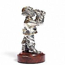 Серебряная статуэтка с позолотой Ювелир