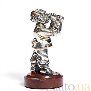 Серебряная статуэтка с позолотой Ювелир 1068