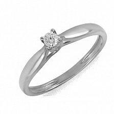 Кольцо из белого золота Идеал с бриллиантом