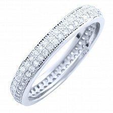 Серебряное кольцо Лунный свет с фианитами