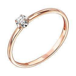Золотое кольцо в комбинированном цвете с бриллиантом 000137728