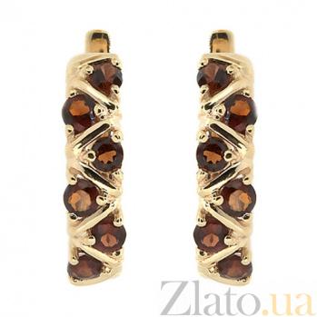 Золотые серьги Иоланта с раухтопазами ZMX--ERt-16531_K
