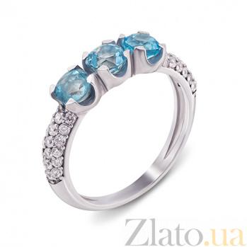 Серебряное кольцо Марта с топазом и фианитами 1631/9р топаз