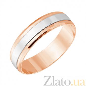 Золотое обручальное кольцо Идеал в комбинированном цвете 1065/3