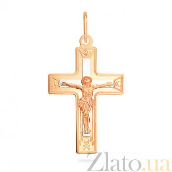 Золотой крестик Добродетель SUF--521131нр