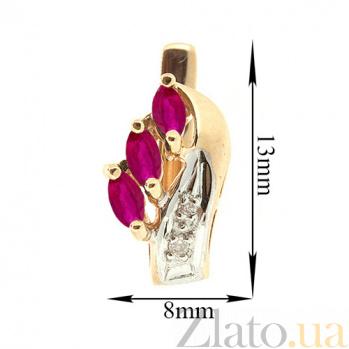 Золотые серьги Марина с рубинами и бриллиантами ZMX--ER-112_K