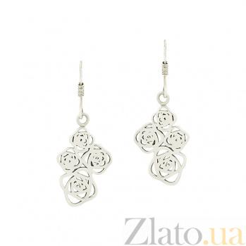 Серебряные серьги Розалин 3С203-0005