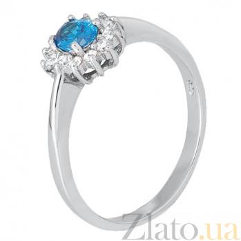 Серебряное кольцо с голубым фианитом Милиани 000028334