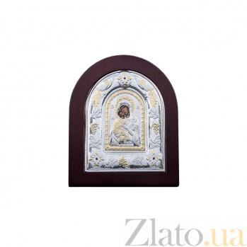 Икона Владимирская серебро с золотом  AQA--MA/E3110BX