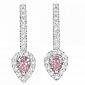 Серьги Argile с бриллиантами и розовыми сапфирами E-cjAr-W-2s-40d