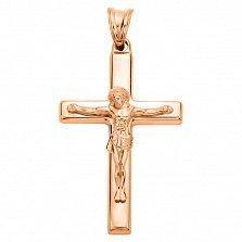 Крестик из красного золота Духовный учитель