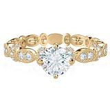 Кольцо из желтого золота с бриллиантами Очарование