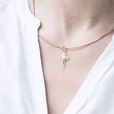 Крестик Светлые помыслы в красном золоте