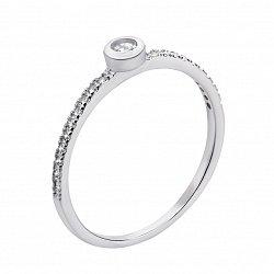 Серебряное кольцо с фианитами 000133090