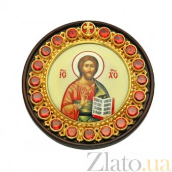 Автомобильная серебряная икона на дереве Христос Спаситель 2.79.0059