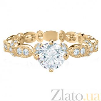 Кольцо из желтого золота с бриллиантами Очарование 764