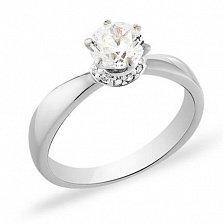 Кольцо из белого золота с фианитами Желание принцессы