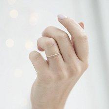 Золотое кольцо Вэнди с фианитами