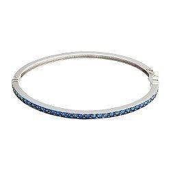 Серебряный браслет с синими фианитами 000096025