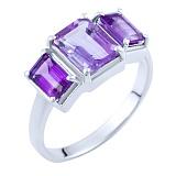 Серебряное кольцо Зарита с аметистами