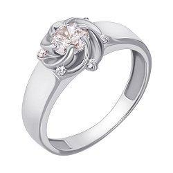 Кольцо из белого золота с фианитами 000135612