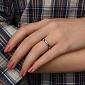 Золотое кольцо в белом цвете с бриллиантами Крис 000021395