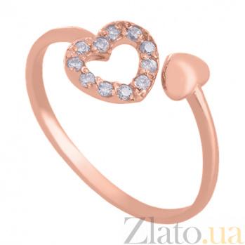 Золотое кольцо с фианитами Love is VLN--212-1789