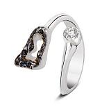 Серебряное кольцо с фианитом Октавия