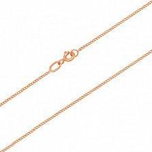 Золотая цепочка Алисия в панцирном плетении, 1мм