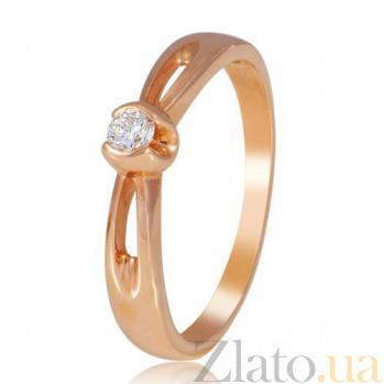 Золотое кольцо с одним бриллиантом Сияние EDM--КД7481