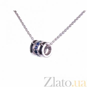 Серебряная подвеска-шарм Donze с сапфирами ZMX--PS-6893-Ag_K