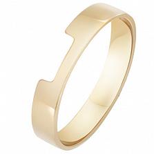 Кольцо Сегмент с в желтом золоте