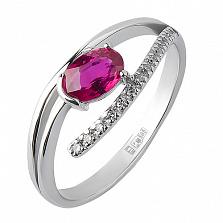 Кольцо из белого золота с рубином Исполнение желаний