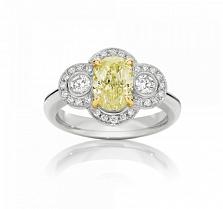 Кольцо Argile-Q с желтым сапфиром и бриллиантами