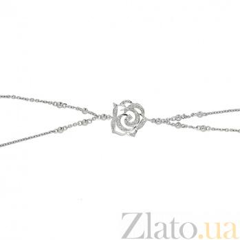 Золотой браслет в белом цвете с бриллиантами Surrey 000022106