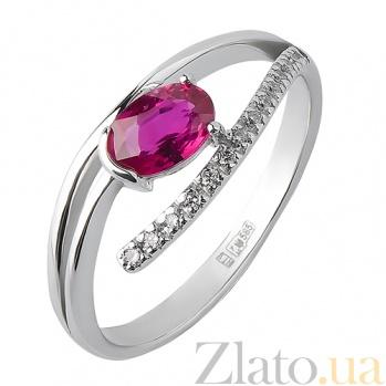 Кольцо из белого золота с рубином Исполнение желаний TRF--1221515н/руб