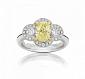 Кольцо Argile-Q с желтым сапфиром и бриллиантами R-cjQ-W-1s-28d