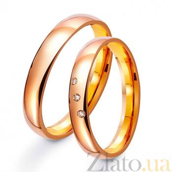 Обручальное кольцо из красного золота Теорема любви TRF--411235