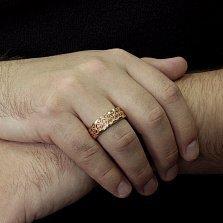 Золотое обручальное кольцо Ренессанс