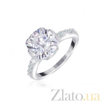 Серебряное кольцо с белыми фианитами Майа 000025524