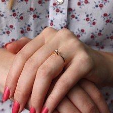 Золотое кольцо с цирконием Сесиль