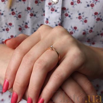 Золотое кольцо с цирконием Сесиль TNG--380140