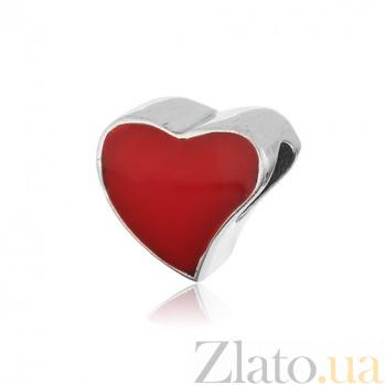 Серебряный шарм Пылкое сердце 000028756