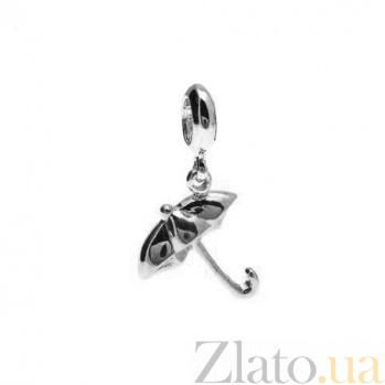 Серебряная бусина Зонтик AQA-231510045/4