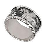 Кольцо из белого золота Грифон