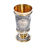 Серебряный кубок с позолотой Царская охота