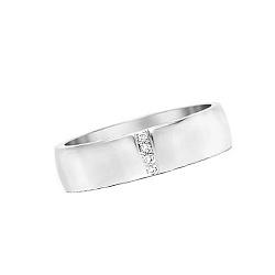 Золотое обручальное кольцо с топазами Женева