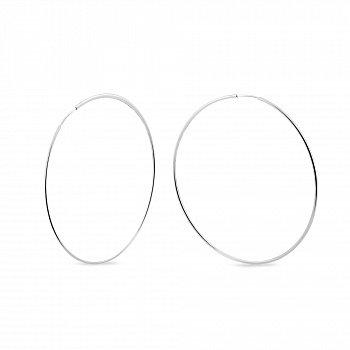 Серебряные серьги-конго Ø 60мм 000149529