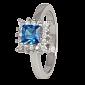 Серебряное кольцо с фианитами Дамали 000025483